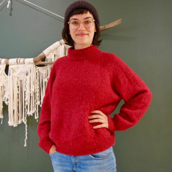 Tricot pull topdown